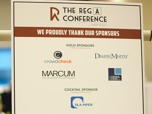 The Reg A Conference Sponsors